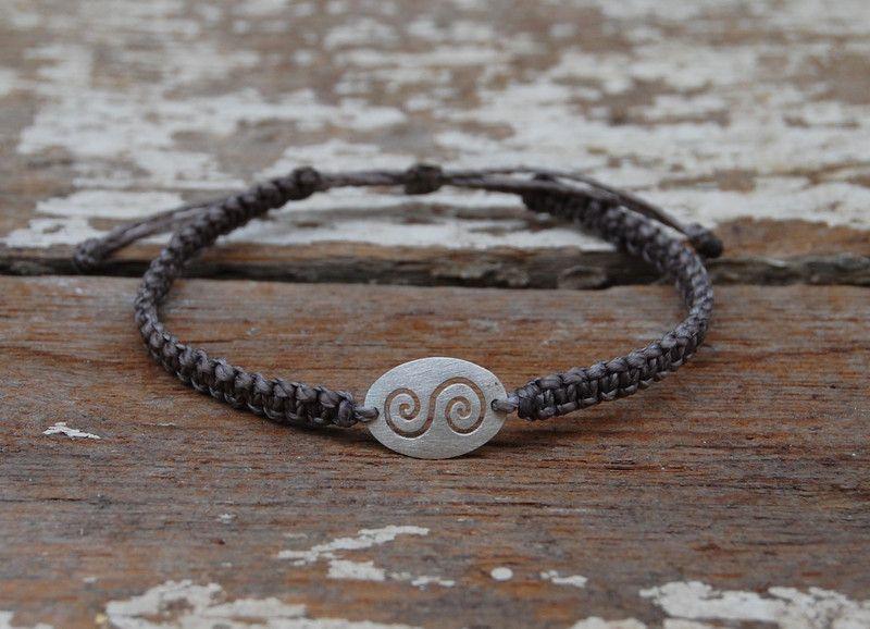 makramee armband perle silber 925 winkel. Black Bedroom Furniture Sets. Home Design Ideas